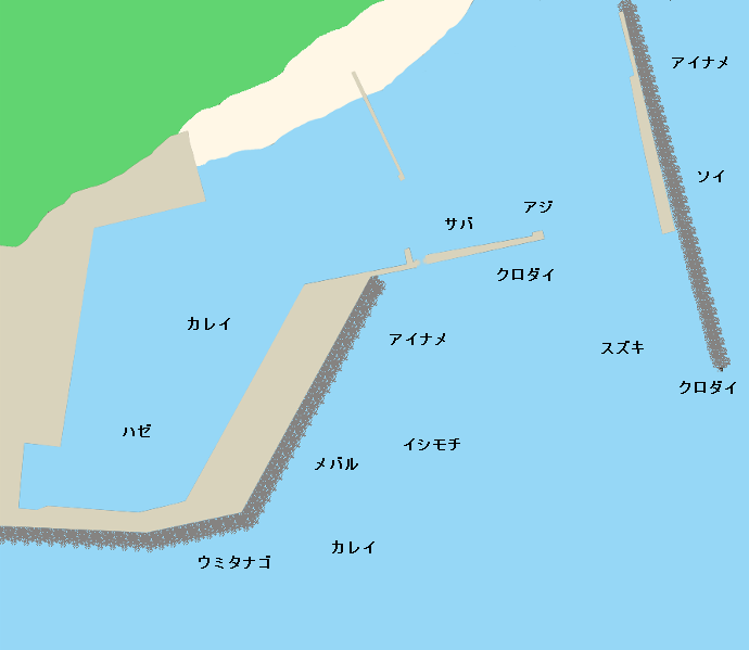 豊間港ポイント図
