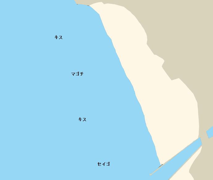 豊岡海岸ポイント図