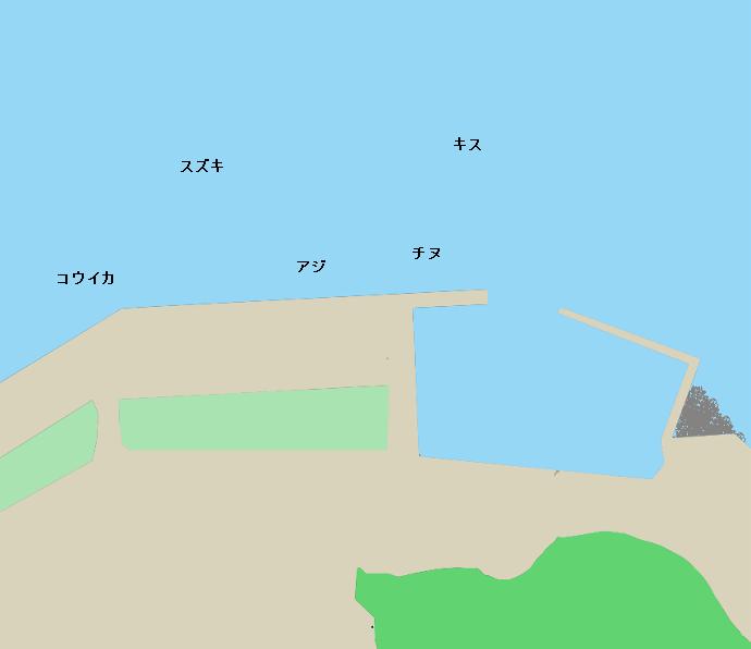 大島憩い の広場付近ポイント図