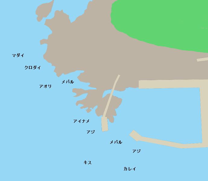 油戸漁港ポイント図