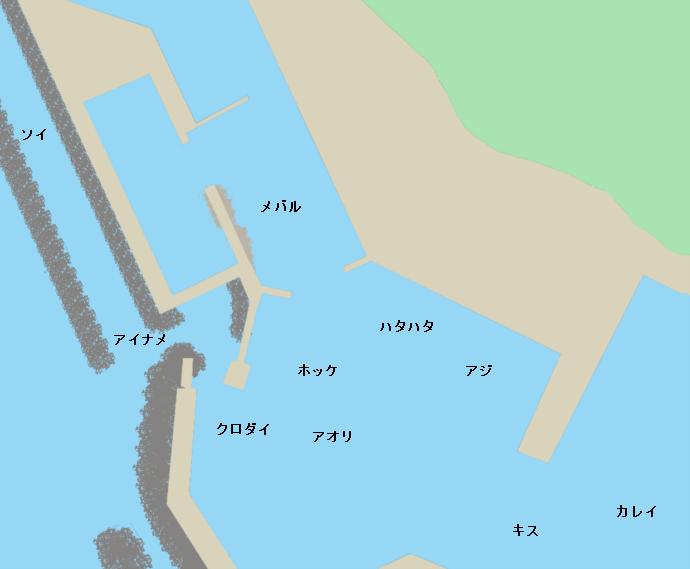 八森漁港ポイント図