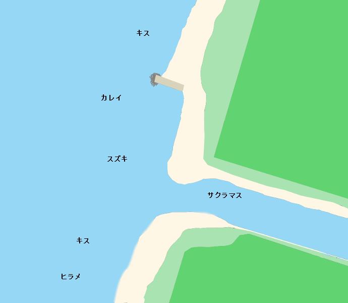 赤川河口ポイント図