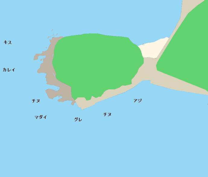 赤松覗岩ポイント図