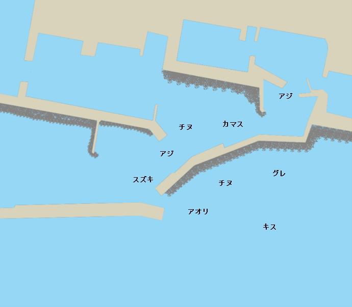 安芸漁港ポイント図