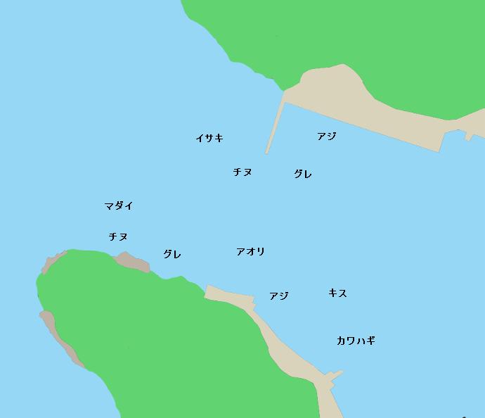 安満地漁港ポイント図