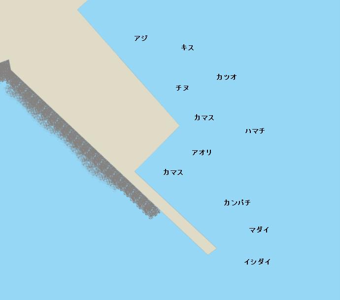 足摺港ポイント図