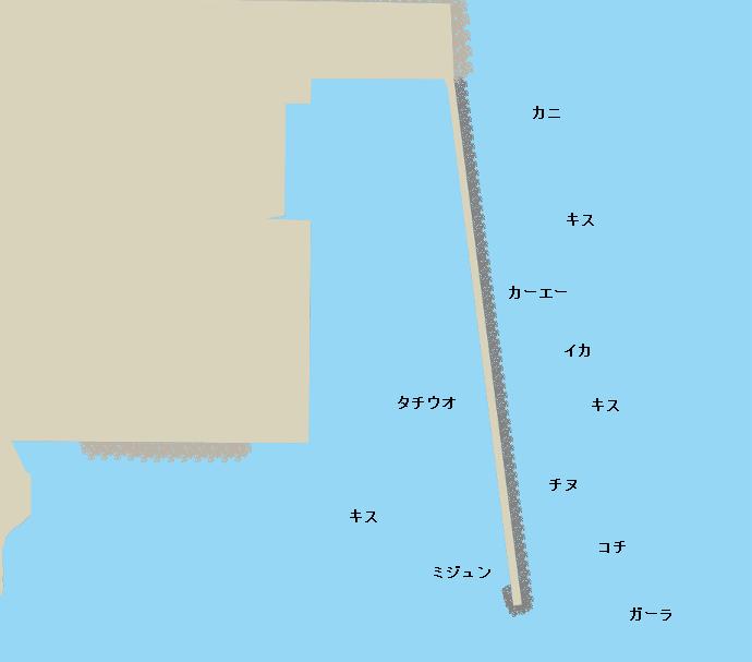 熱田漁港ポイント図