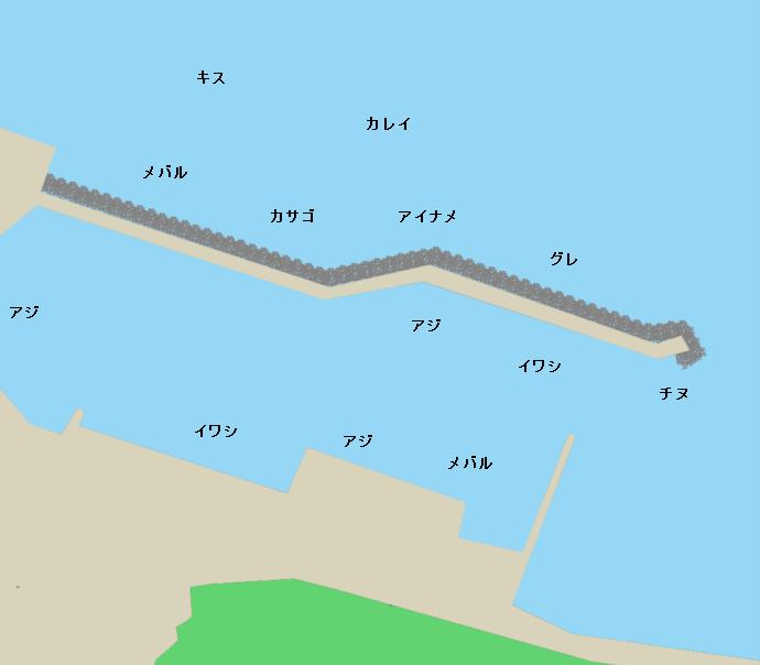 粟田漁港ポイント図