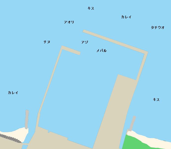 馬篠漁港ポイント図