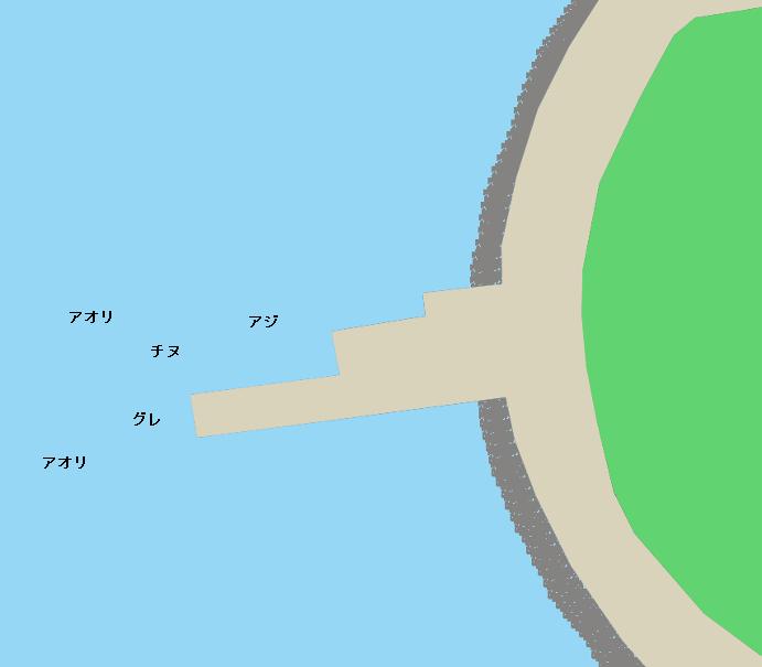 古月の波止ポイント図