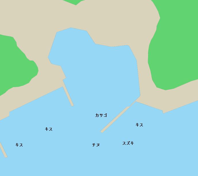 深浦港付近