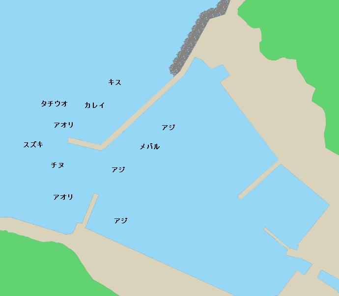 二名津漁港ポイント図