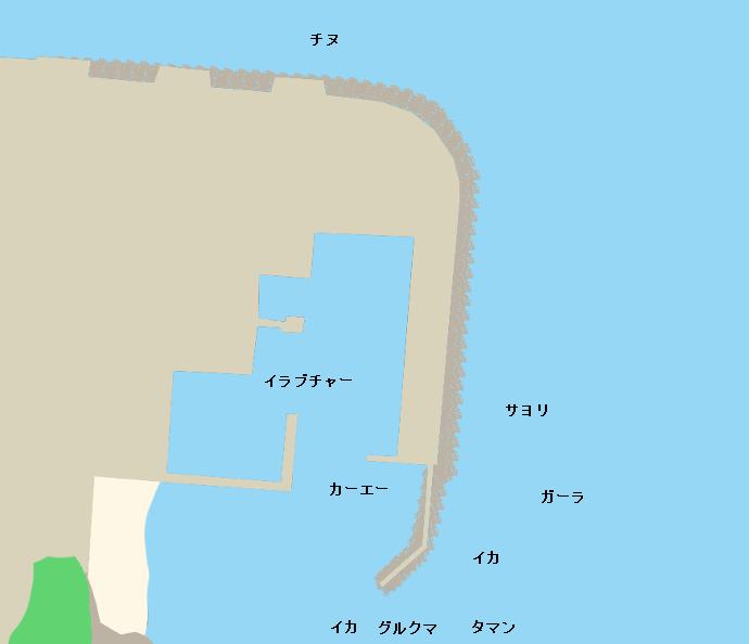 宜野座漁港ポイント図