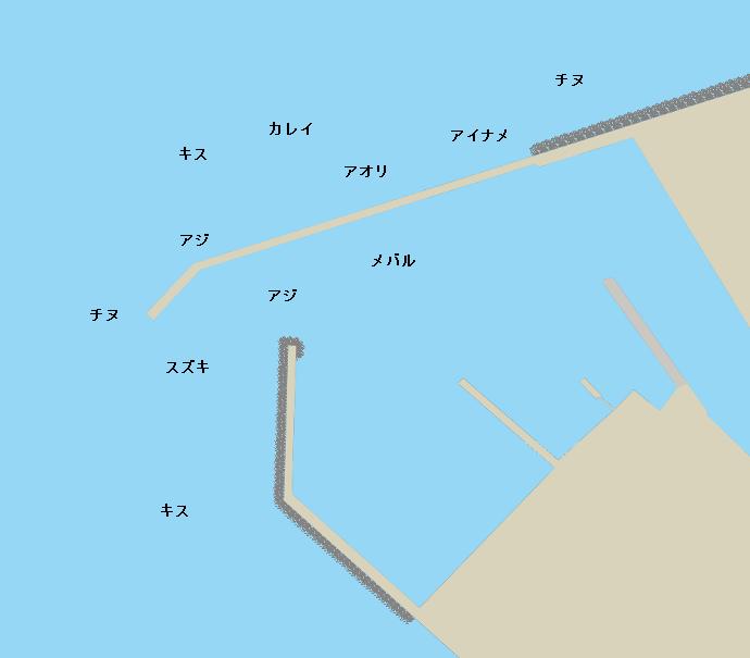 垣生漁港ポイント図