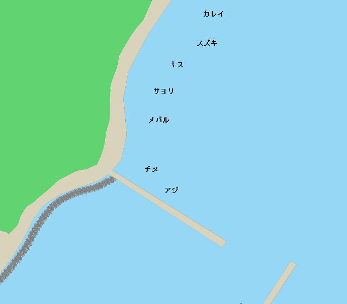 田島箱崎漁港付近のポイント