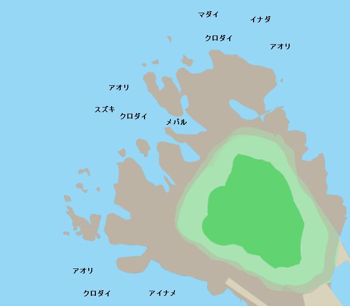 白山島ポイント図