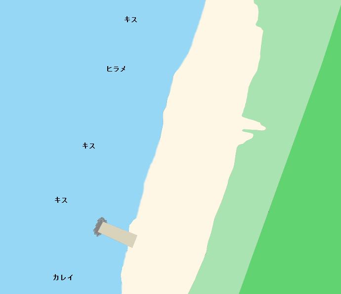 浜中海岸ポイント図