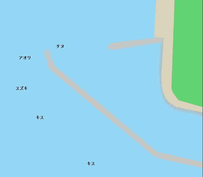 花稲漁港ポイント図