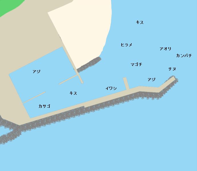 春野漁港ポイント図