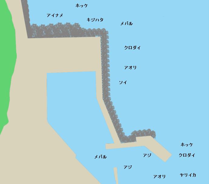 畠漁港ポイント図