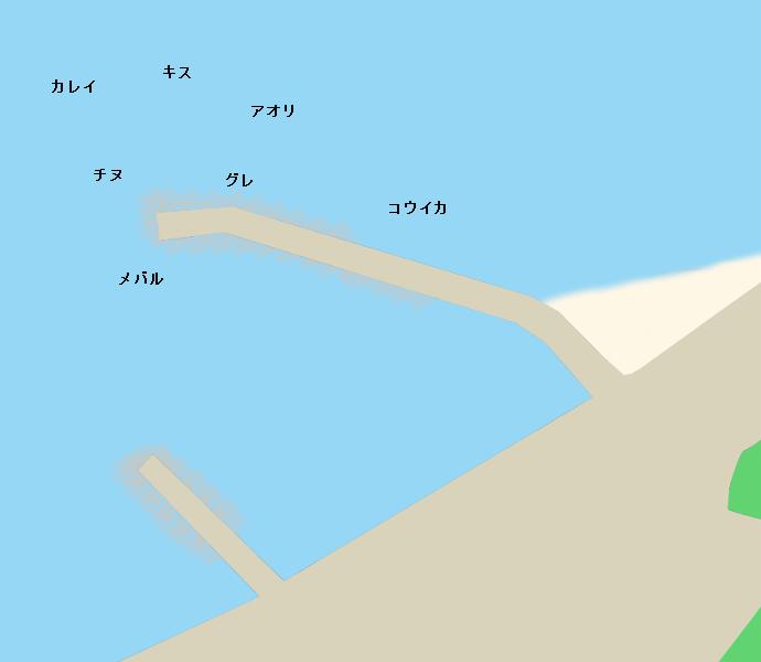 生口島早瀬の波止ポイント図