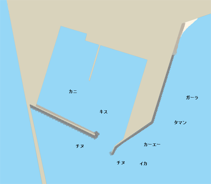 平安座漁港ポイント図