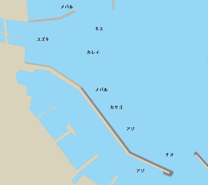 引田港ポイント図