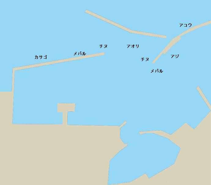 走島本浦港ポイント図