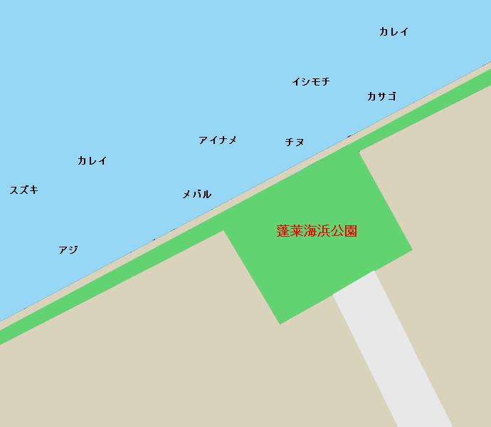 蓬莱海浜公園周辺ポイント図
