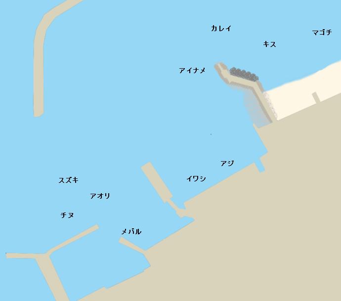 堀江港ポイント図