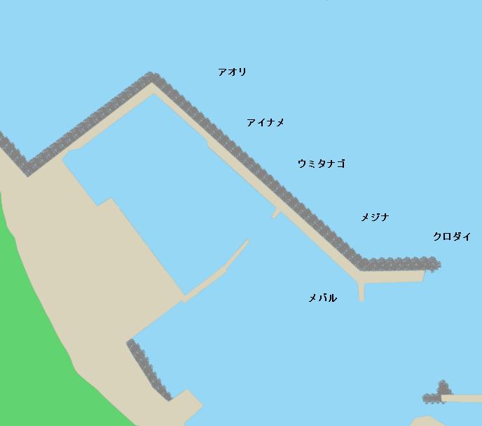 法木漁港ポイント図