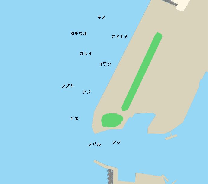 北条港ポイント図