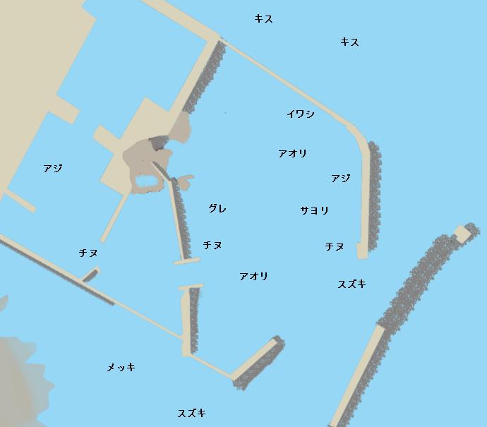入野漁港ポイント図