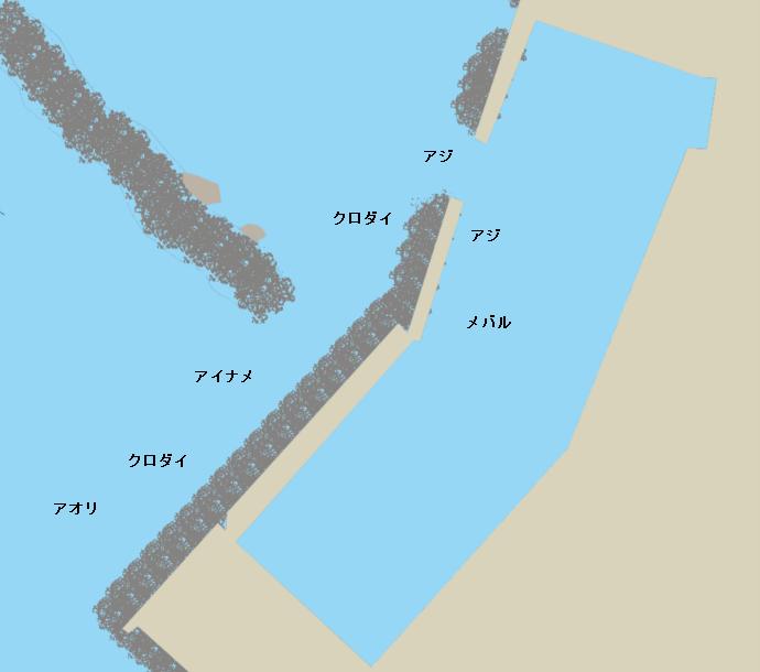 今泉漁港ポイント図