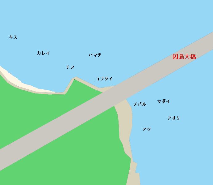因島大橋記念公園ポイント図