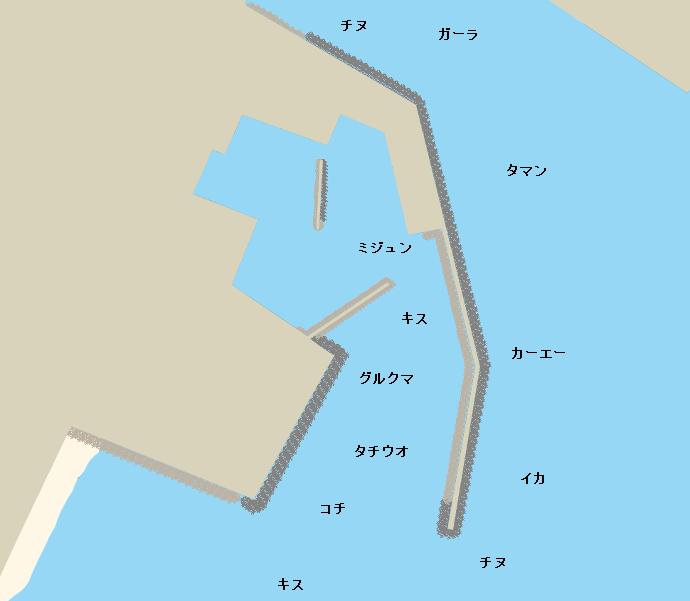 石川漁港ポイント図