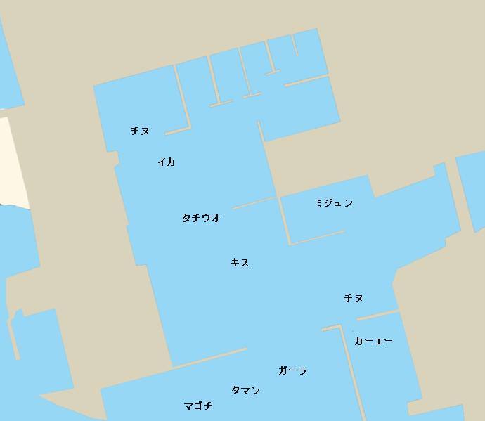 糸満漁港ポイント図