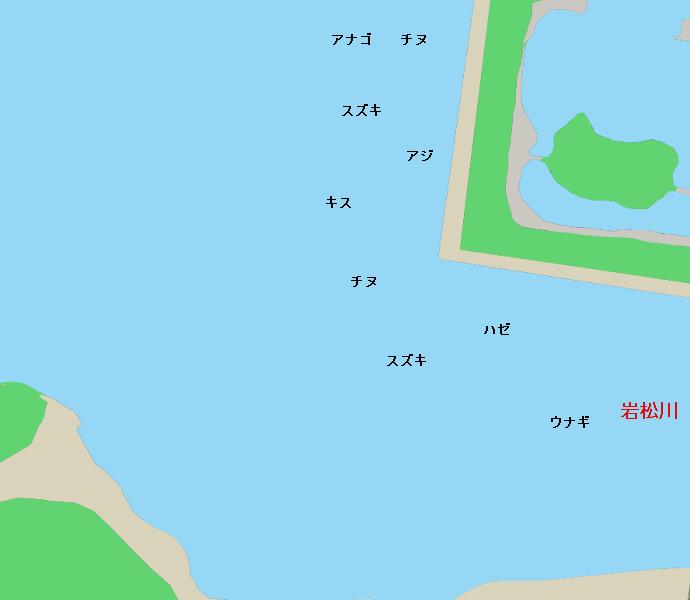 岩松川河口ポイント図