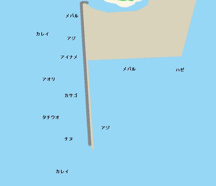 庵治漁港ポイント図