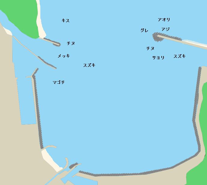 上ノ加江漁港ポイント図