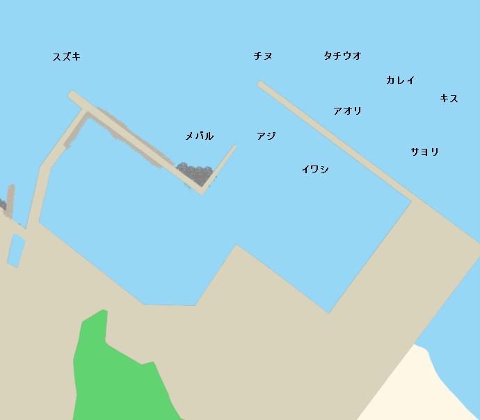 鎌野漁港ポイント図