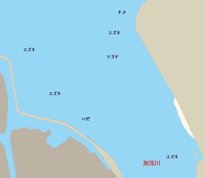 加茂川河口ポイント図