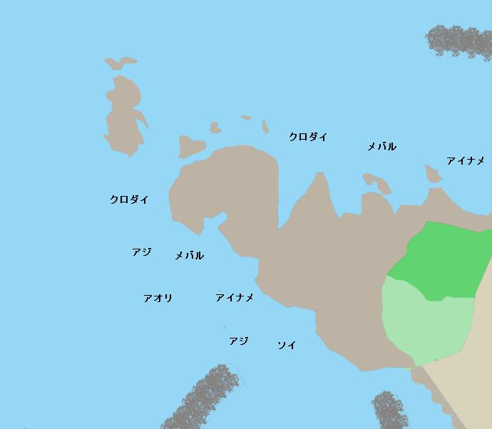 加茂荒崎ポイント図