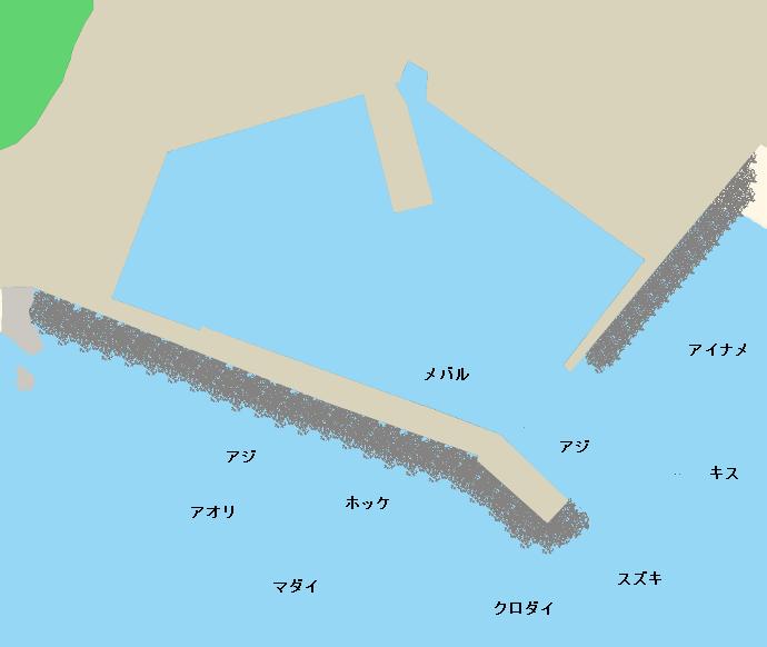 加茂漁港ポイント図