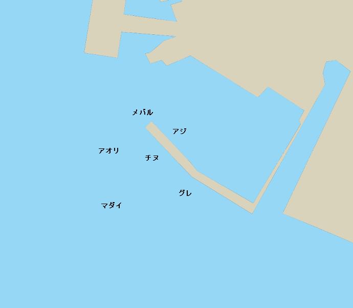 因島金山港ポイント図