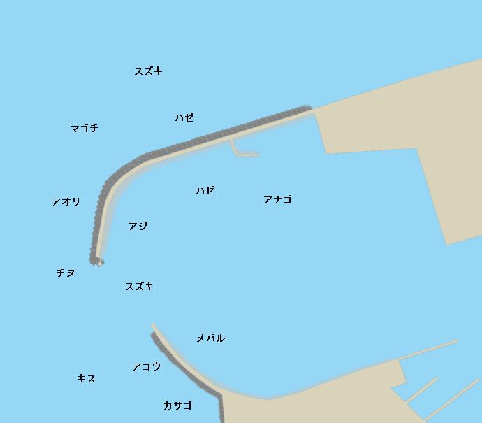 観音寺港ポイント図