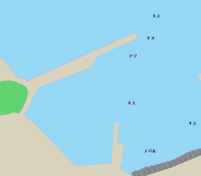 狩津漁港ポイント図