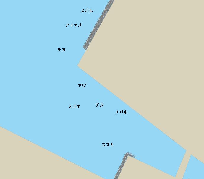 金生川河口ポイント図