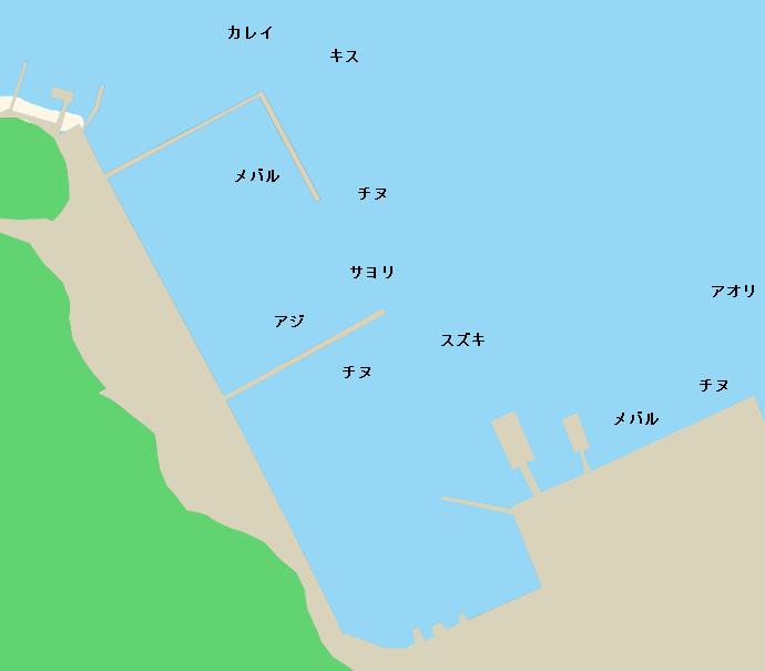 江田島切串港ポイント図