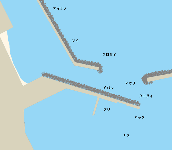 北浦漁港ポイント図